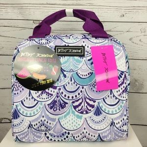 NWT Betsey Johnson Purple Lunch Bag Tote